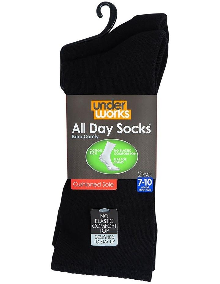 2-Pack Plain Fine Cotton Socks image 3