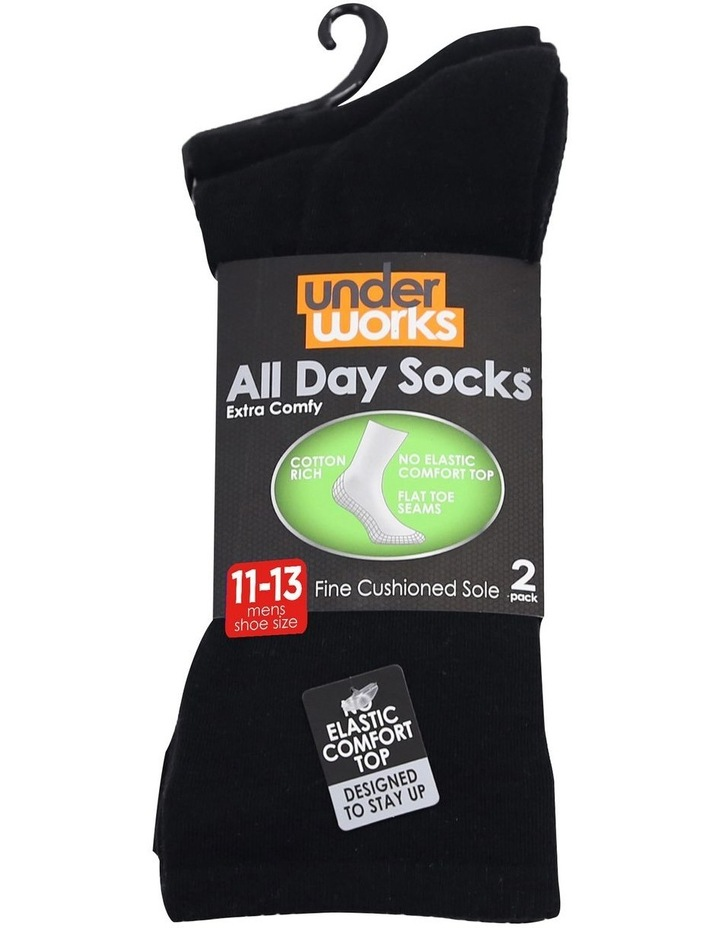 2-Pack Plain Fine Cotton Socks image 5