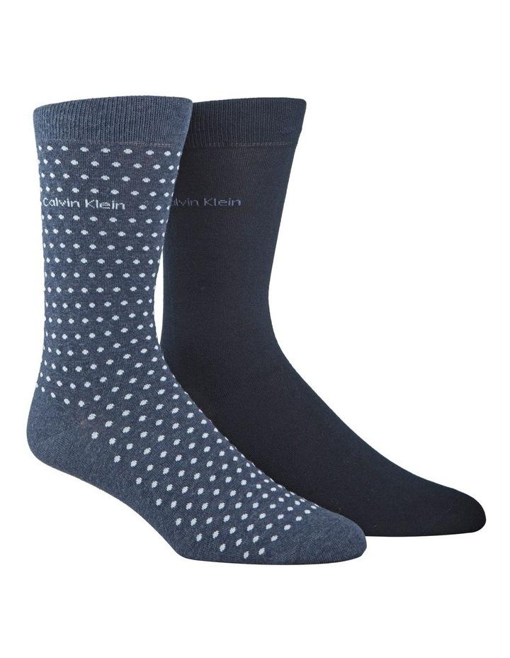 2 Pack Dot Dress Sock image 1