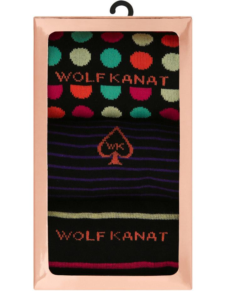 3 Pack Gift Box Cotton Fashion Socks image 1