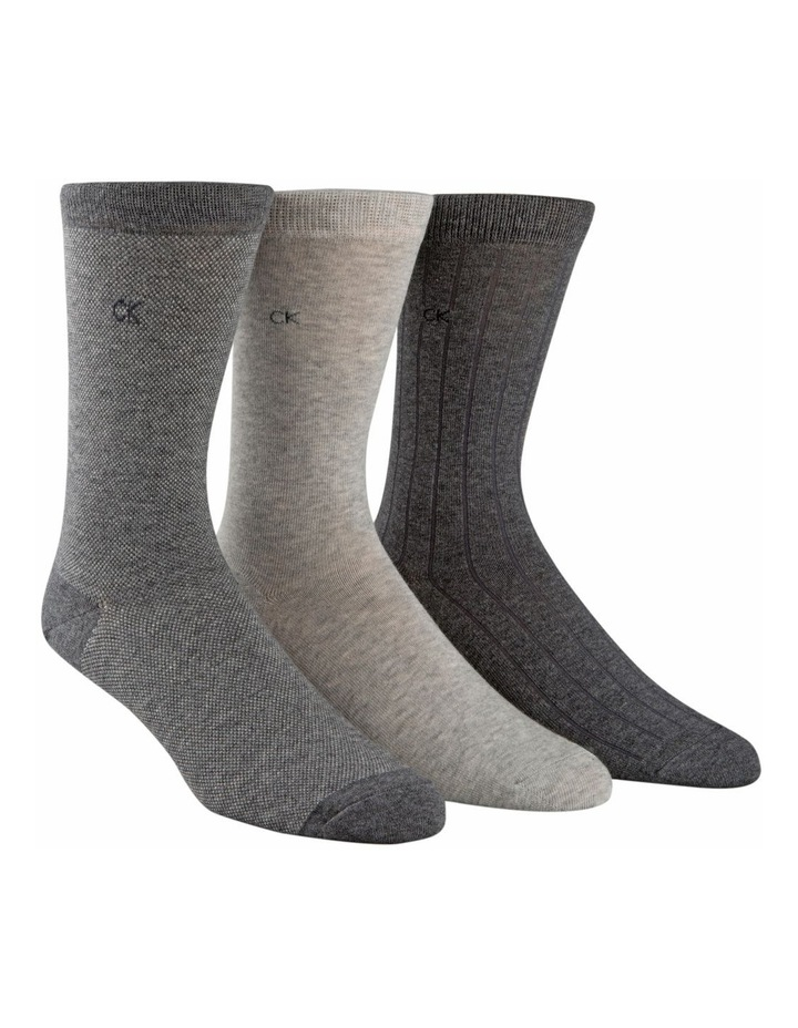 Barclay 3 Pack Birdseye Dress Sock image 3
