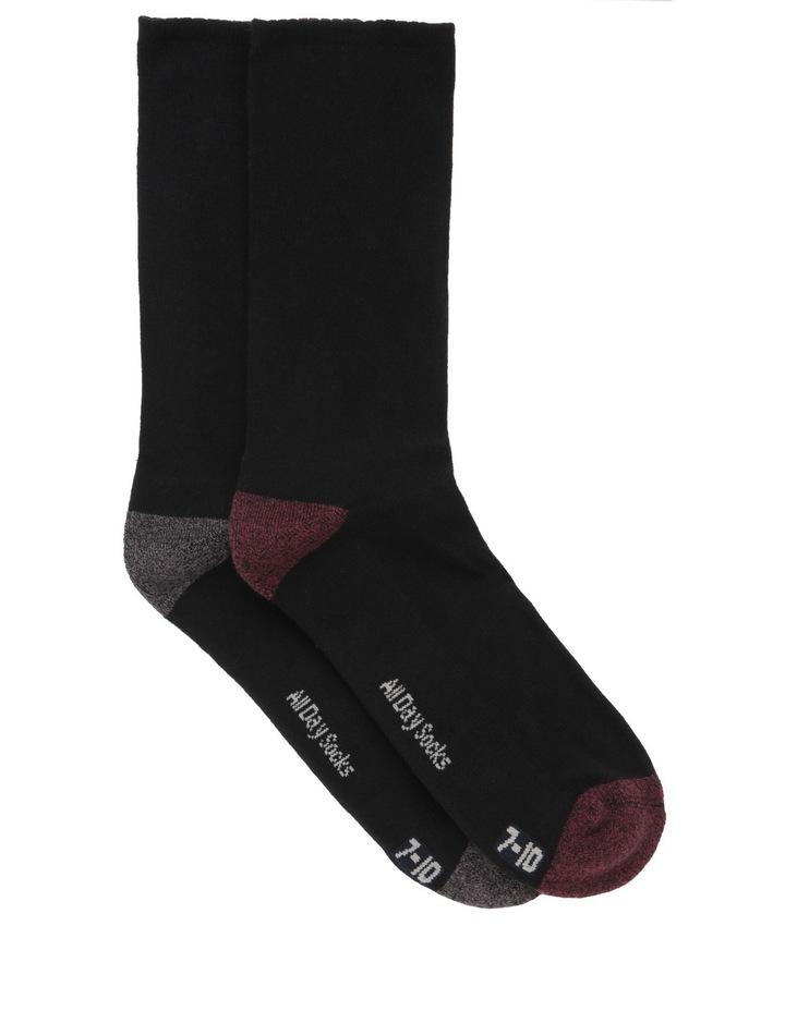 Heel Toe 2 Pack Health Sock image 1