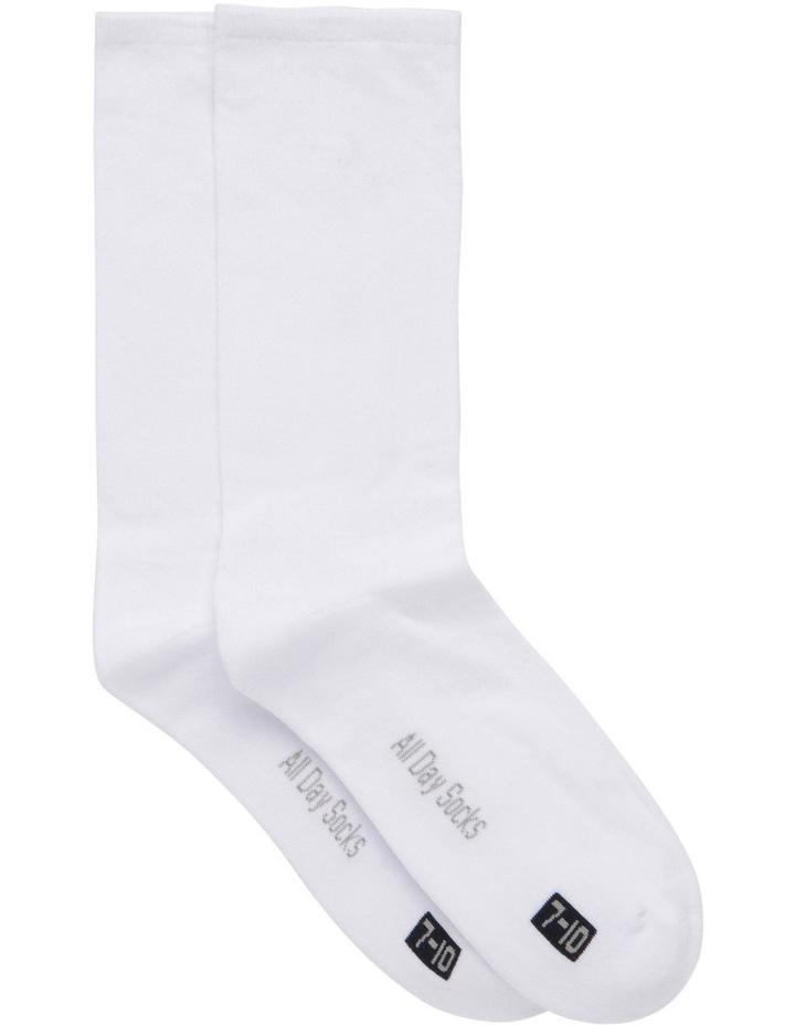 Plain Fine Cotton 2 Pack Health Sock image 1
