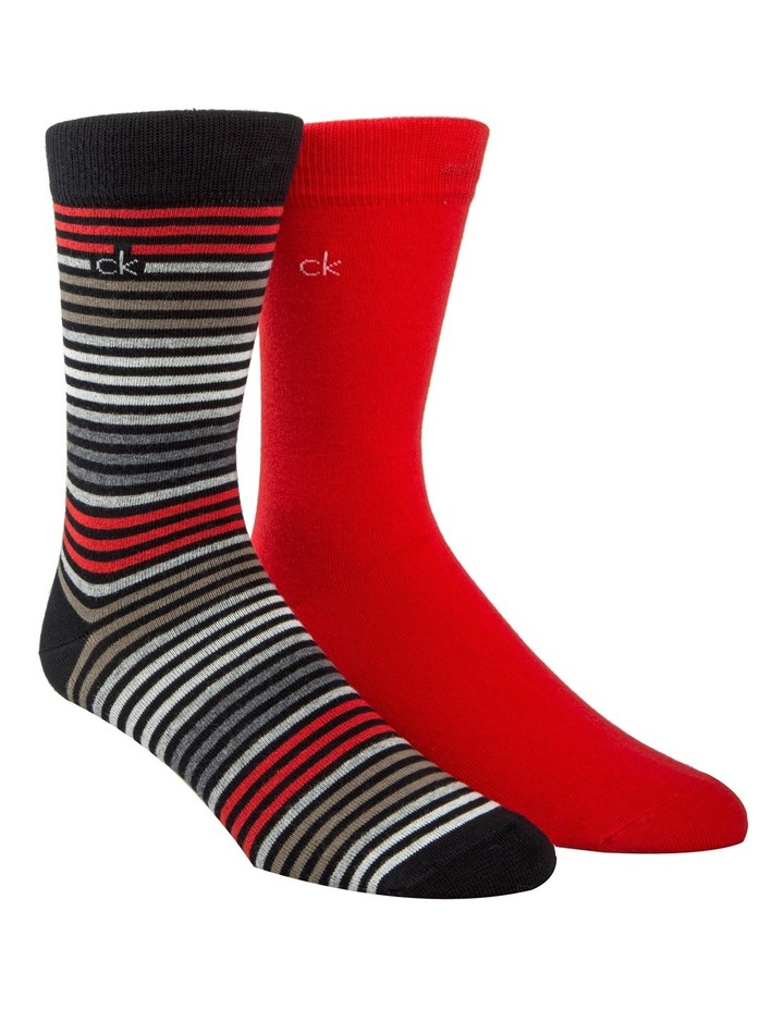 Hadyn Stripe 2 Pack Business Socks image 2