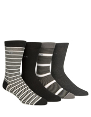 Calvin Klein - 4 Pack Dress Socks Gift Box
