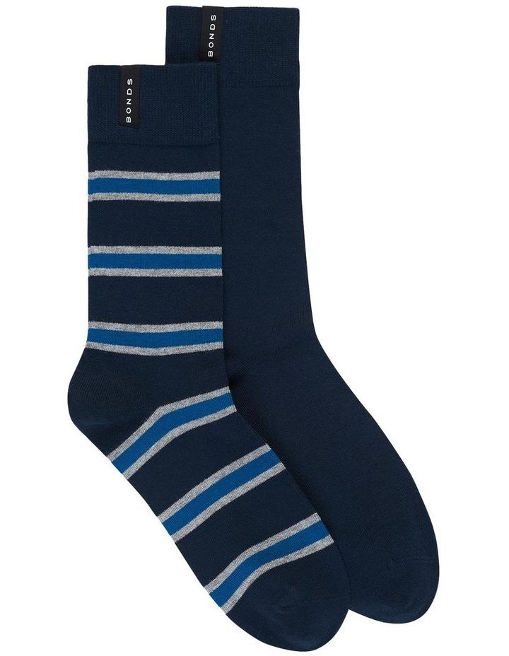 2 Pack Business Street Crew Socks image 1