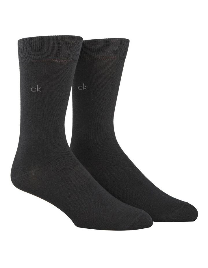 2 Pk Cotton Plain Socks image 1