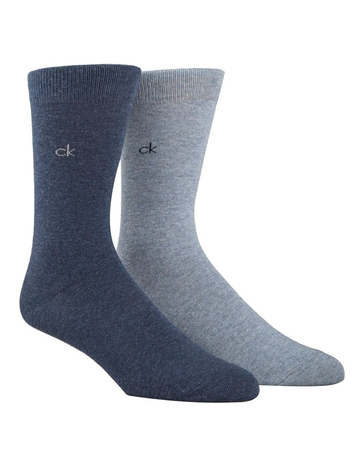 2 Pack Cotton Plain Socks image 1