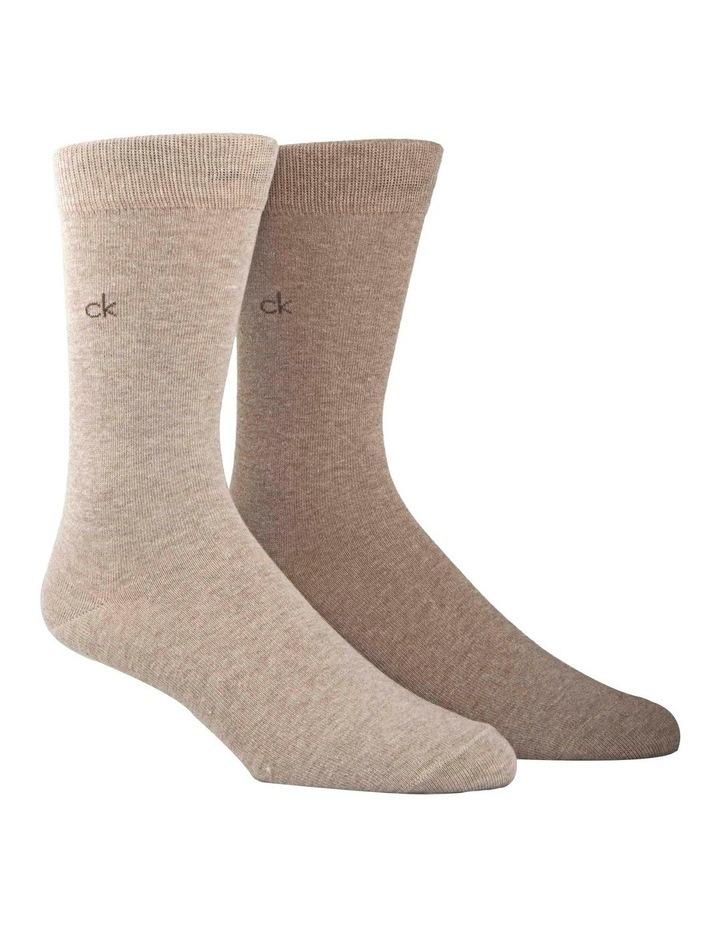 2 Pack Cotton Plain Socks image 1