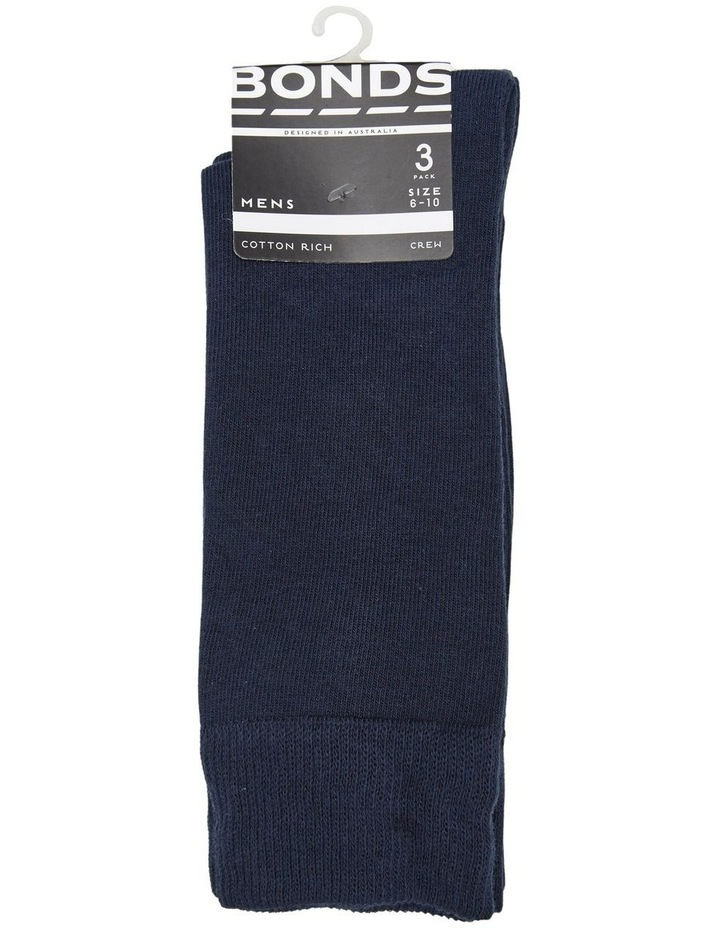 3 Pack Oxford Crew Cotton Socks image 1