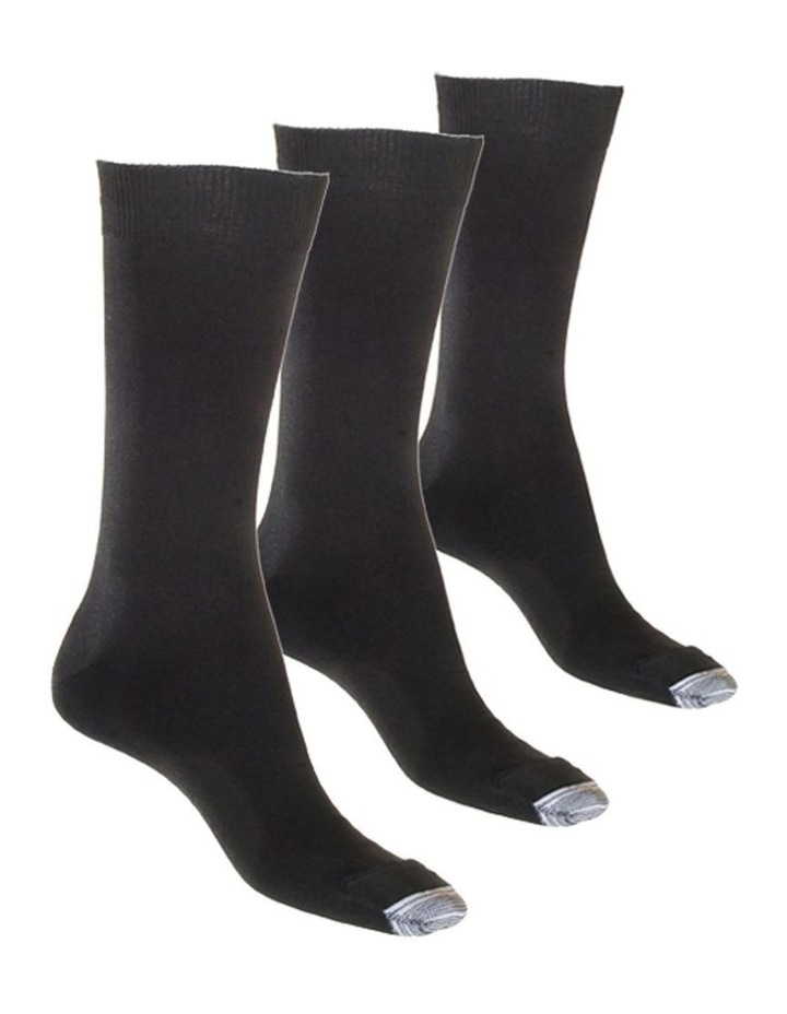 3-Pack Mercerised Tough Toe Sock image 2