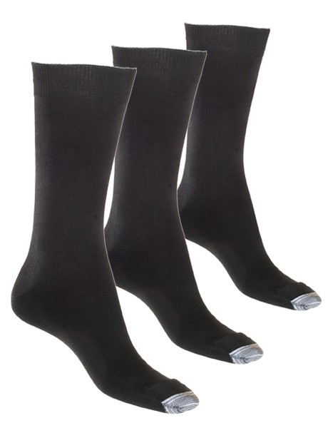 3-Pack Mercerised Tough Toe Sock image 1