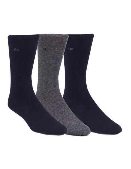 3-Pack Cotton Flat Knit Dress Socks image 1