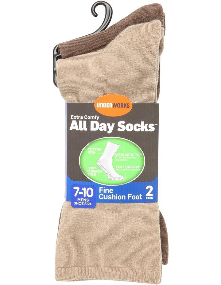 Plain 2 Pack Cotton Sock image 1