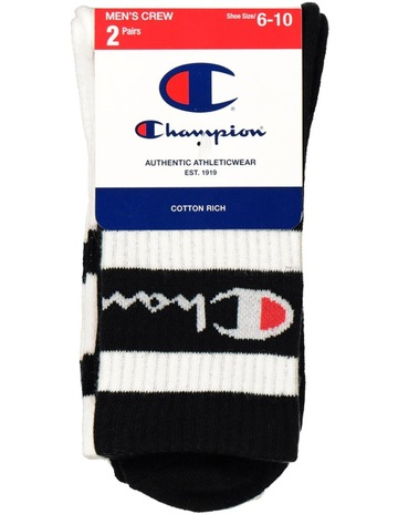 6fd0dc114a190 Champion Logo Crew Sock 2 Pack