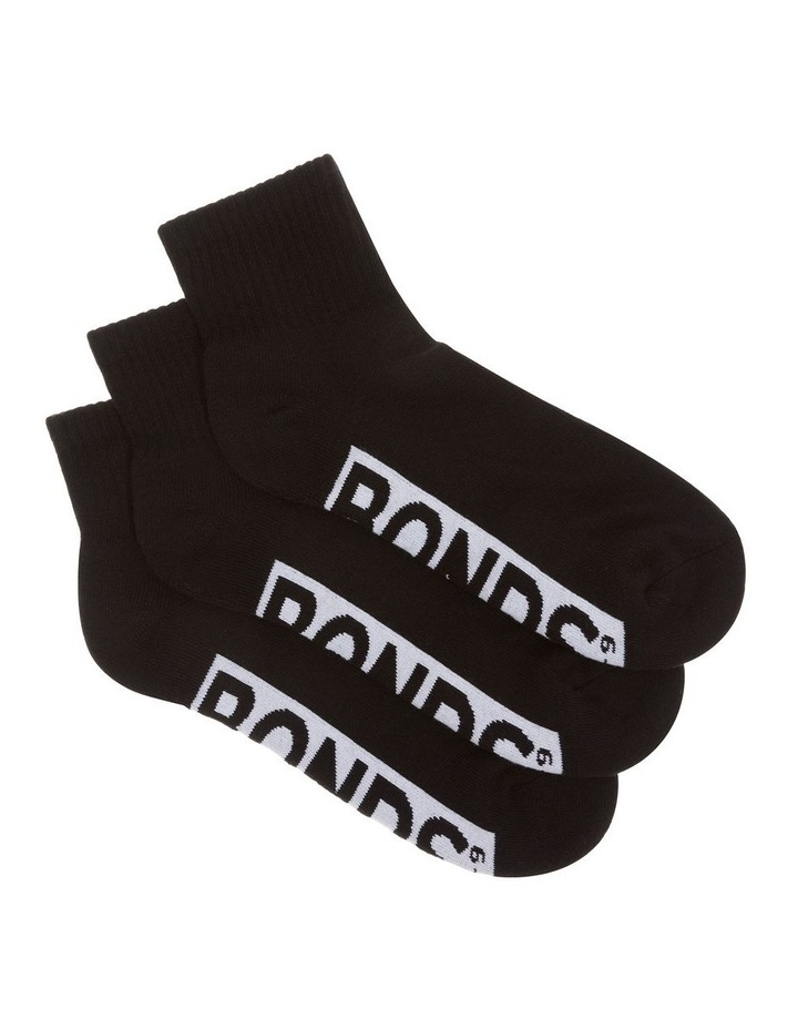 3 Pack Logo Quarter Crew Socks image 2