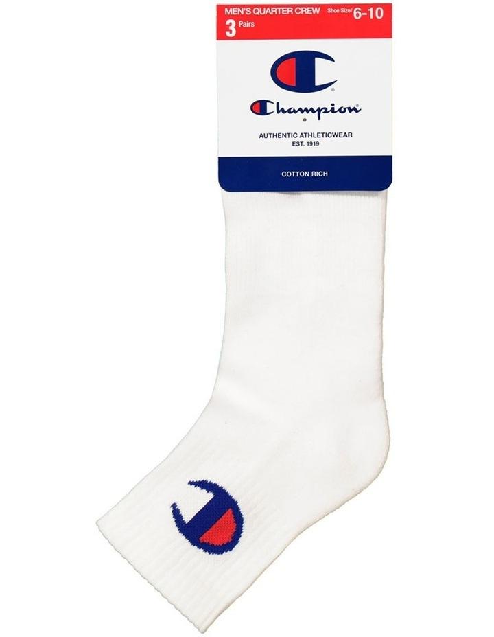 3 Pack C Logo Quarter Crew Sport Socks image 1