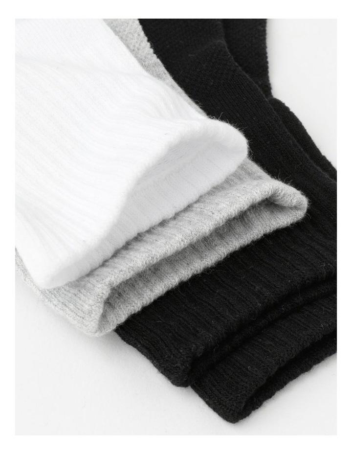 4 Pack Quarter Crew Sports Socks image 2