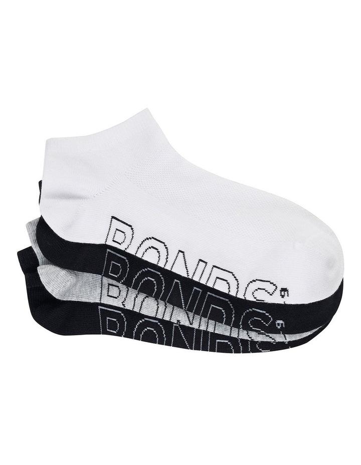 4 Pack Logo Light Trainer Socks image 1