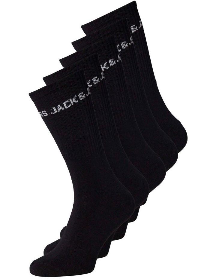 Basic Logo Tennis Sock 5 Pack image 1