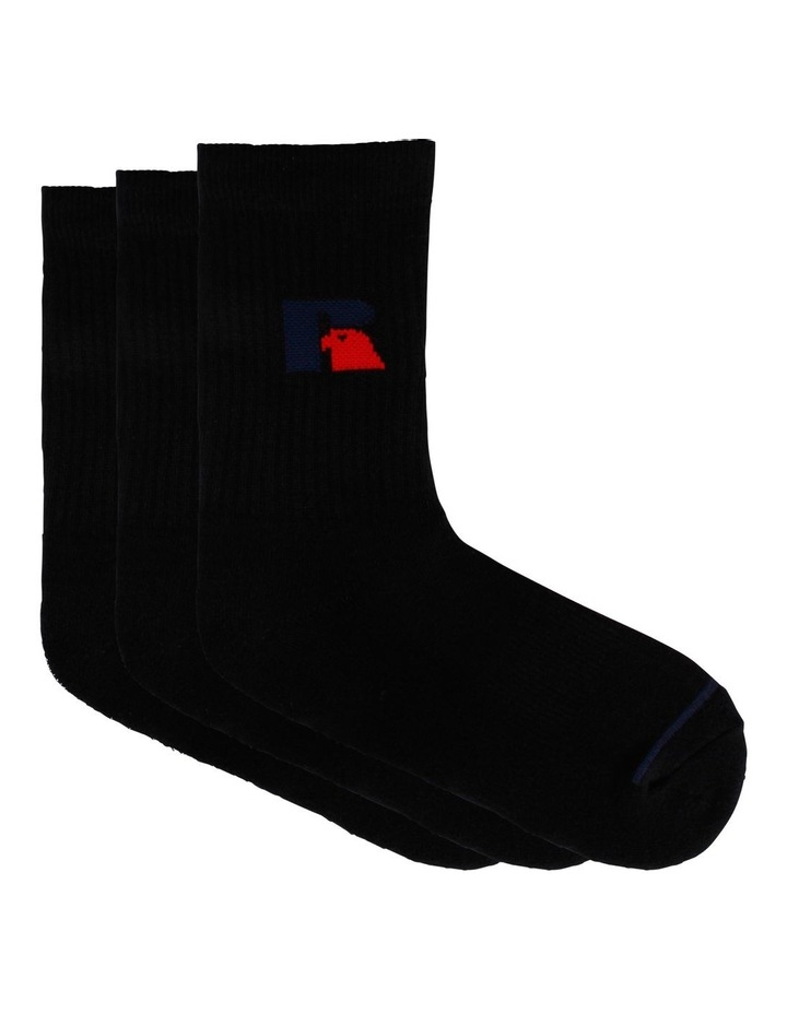 3 Pack Sport Crew Socks image 1
