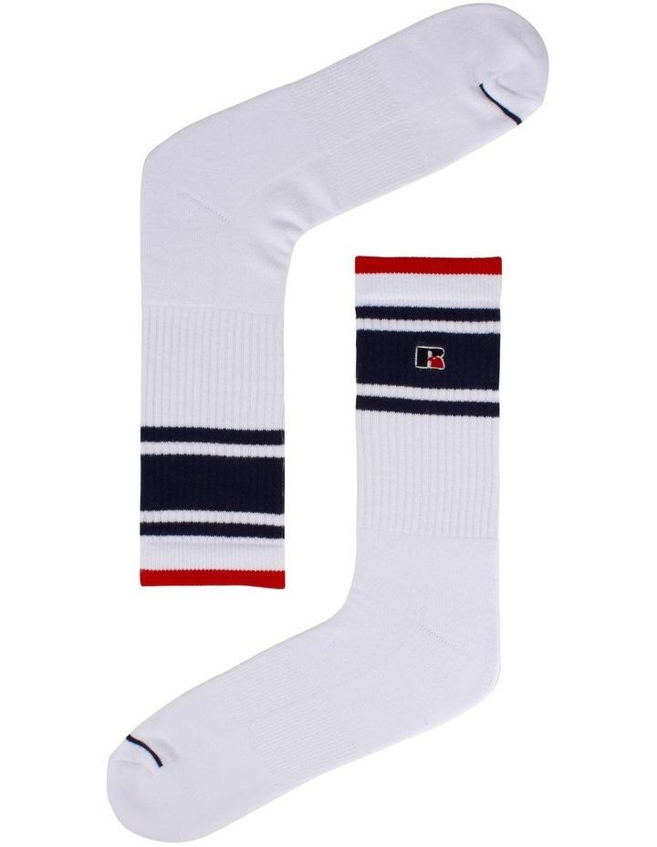 3 Pack Stripe Sport Crew Socks image 2