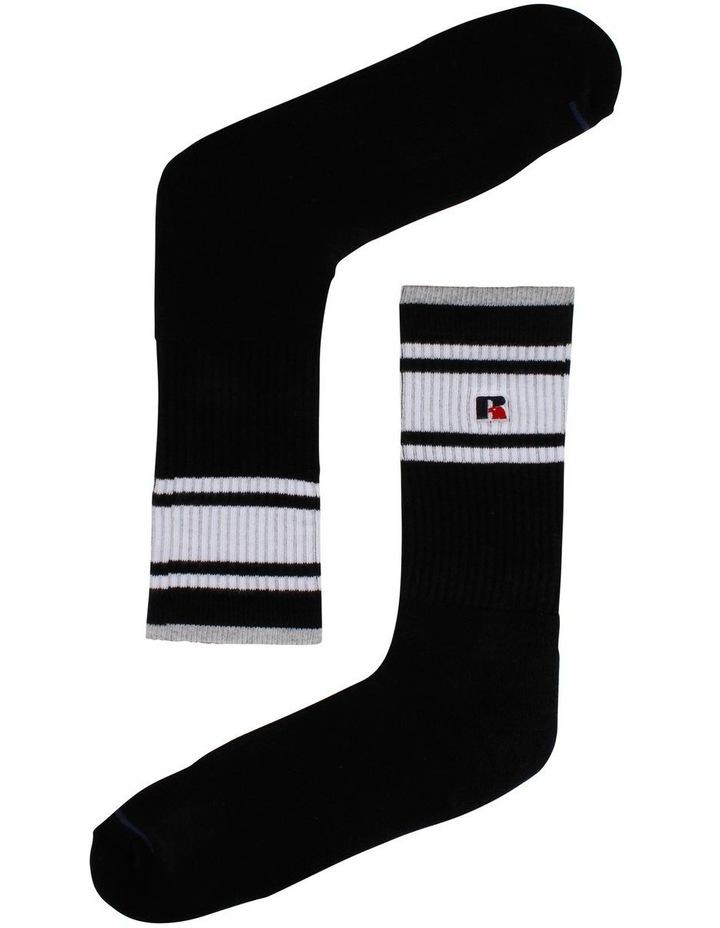 3 Pack Stripe Sport Crew Socks image 3