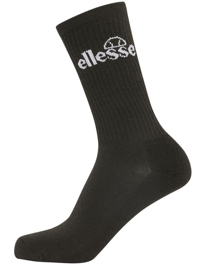 3 Pack Bisba Crew Sports Socks Black image 1