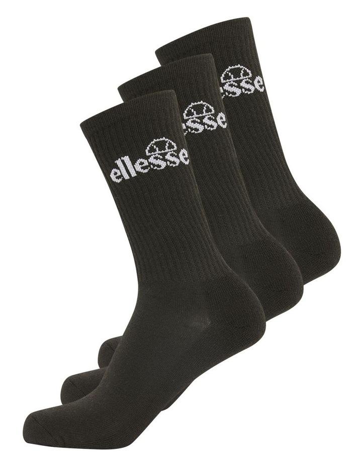 3 Pack Bisba Crew Sports Socks Black image 2