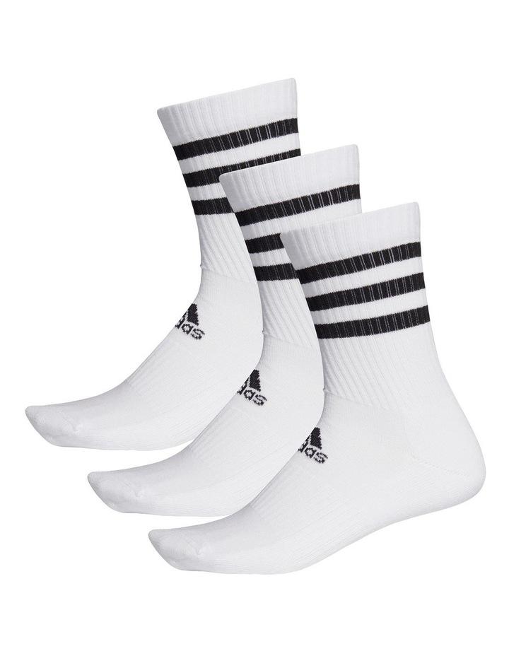 3 Pack Stripe Crew Sport Socks White image 1
