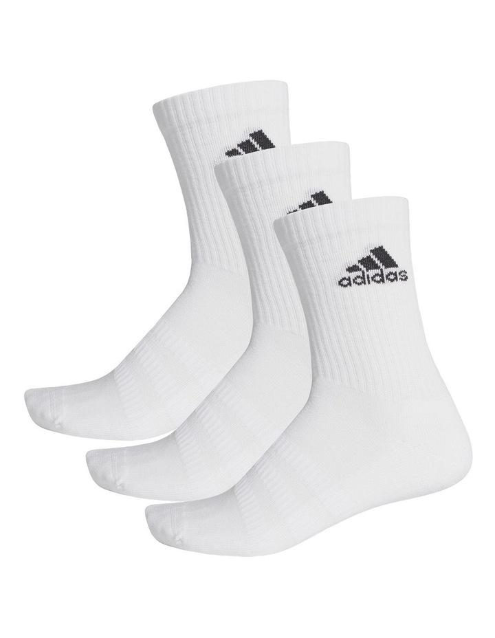 3 Pack Logo Crew Sport Socks White image 2