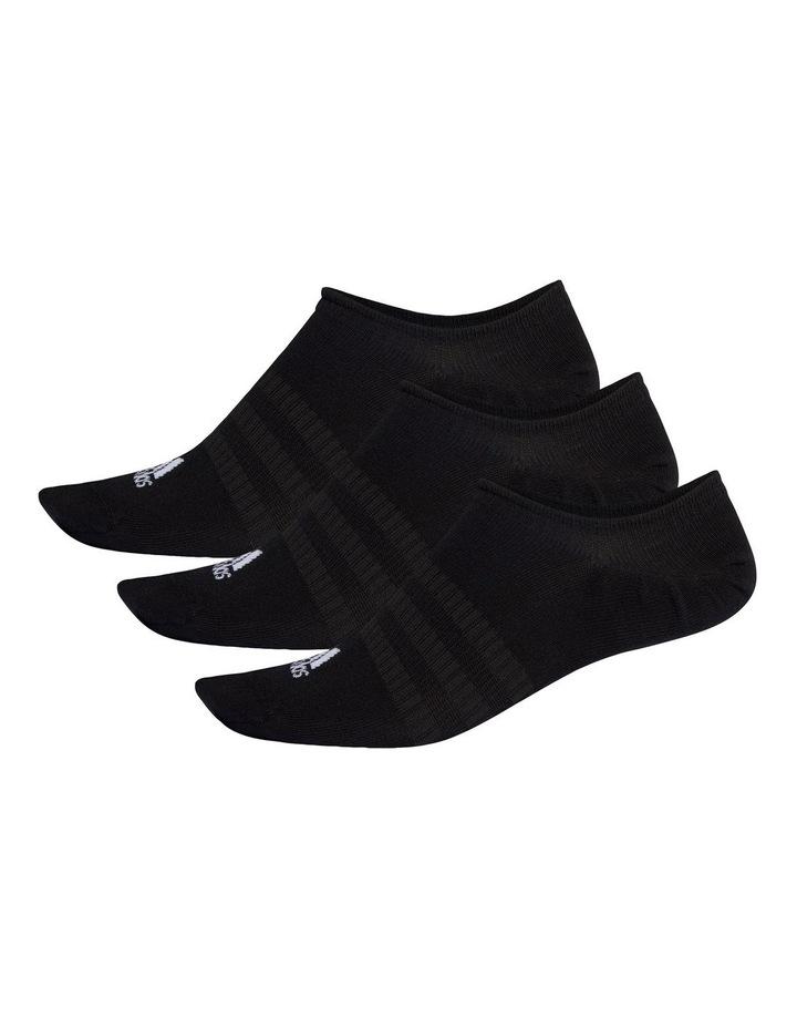 3 Pack Logo NoShow Sport Socks Black image 1