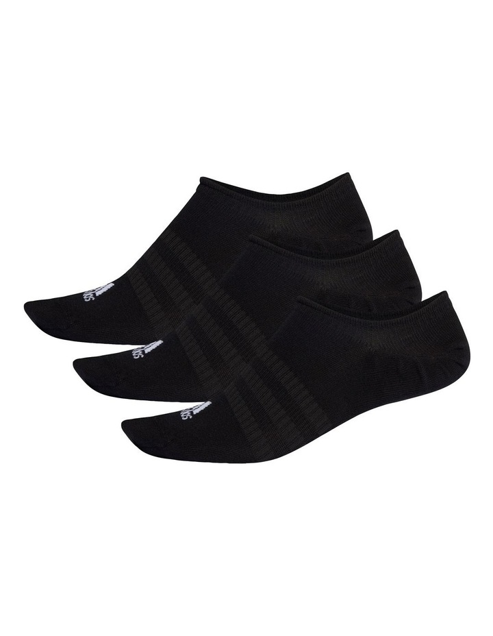 3 Pack Logo NoShow Sport Socks Black image 2