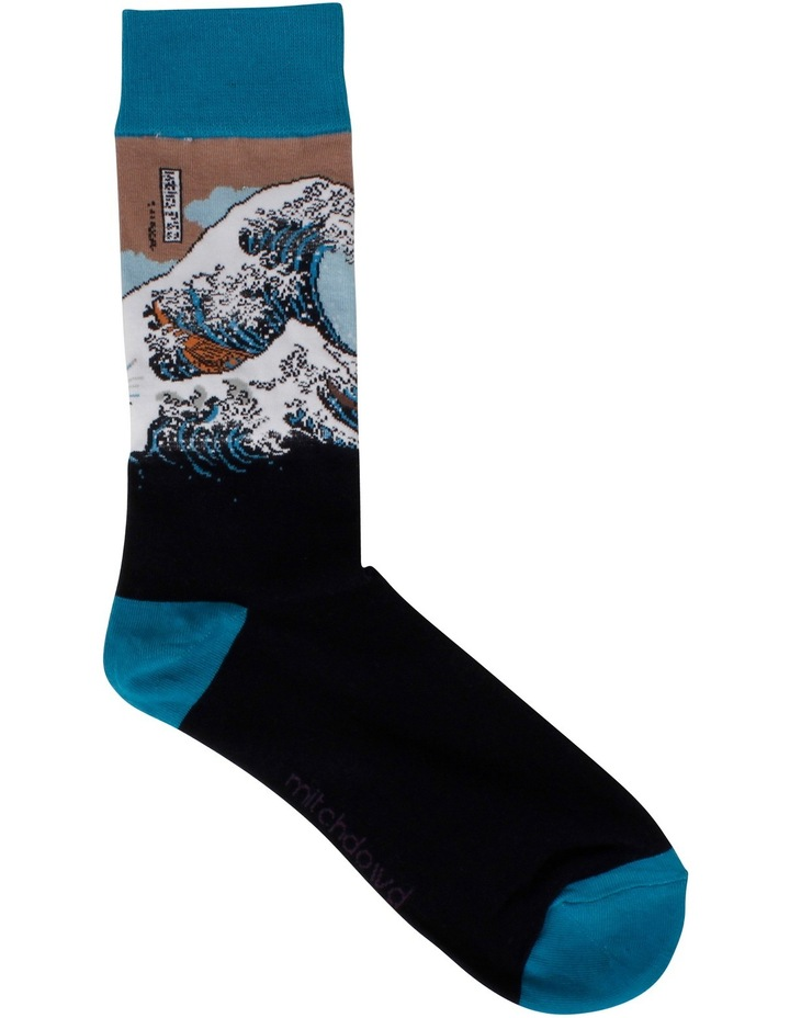 The Great Wave Hokusai Sock image 1