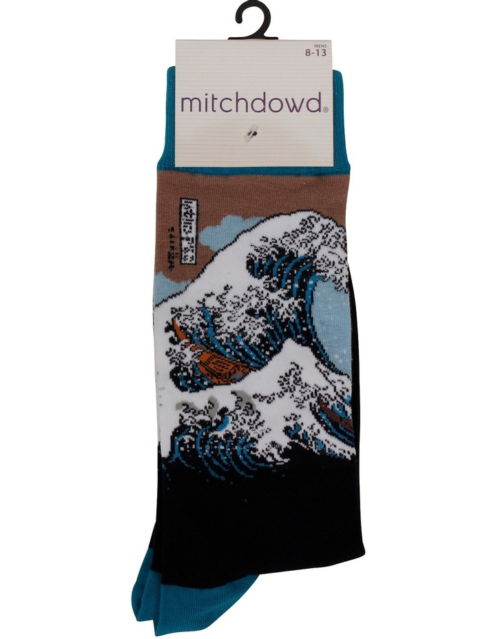The Great Wave Hokusai Sock image 3