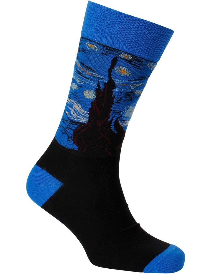 Starry Night Van Gogh Crew Sock image 3