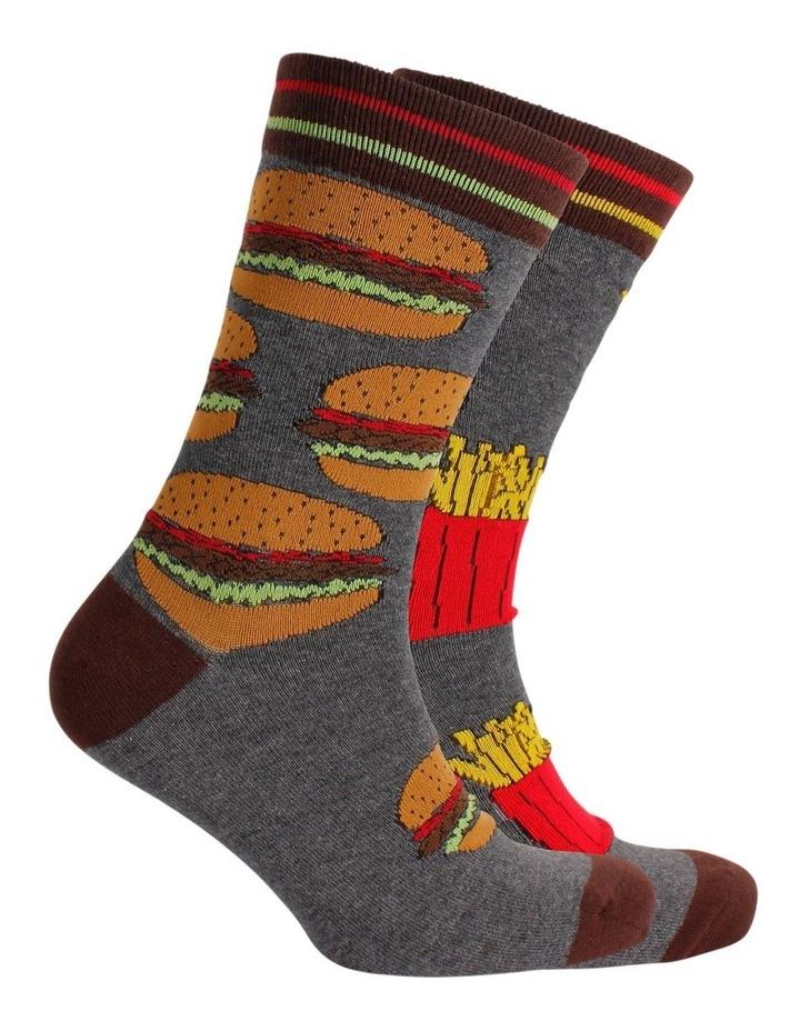 Hambuger & Fries Odd Socks image 2