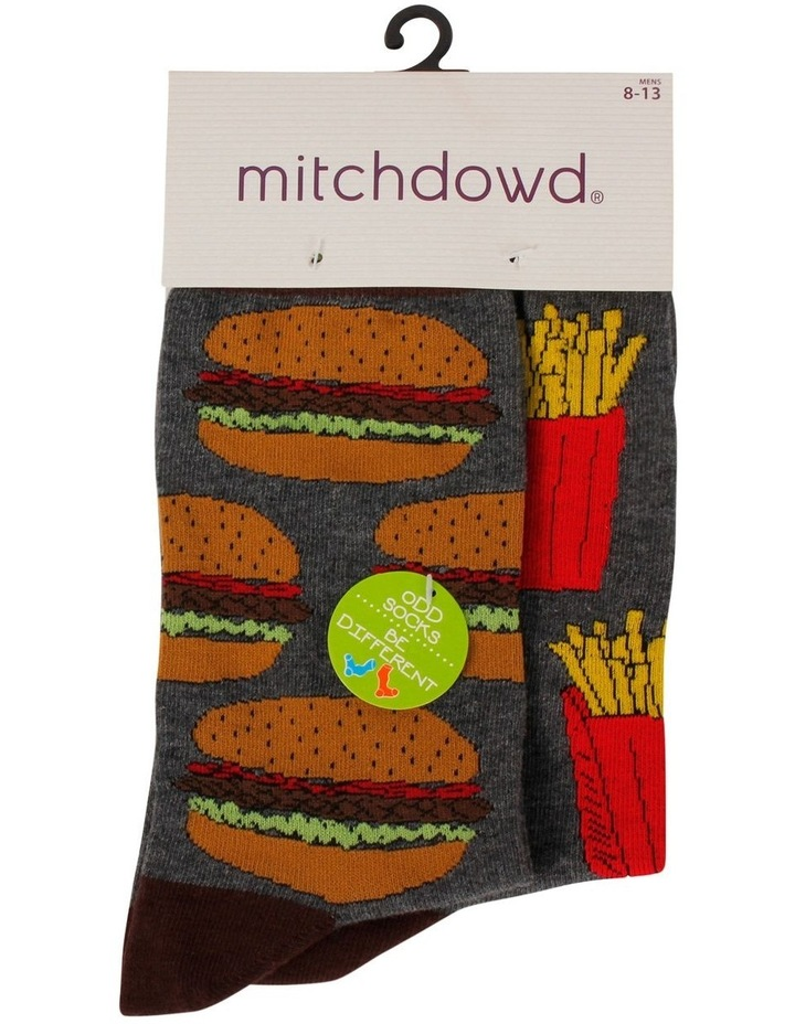Hambuger & Fries Odd Socks image 3