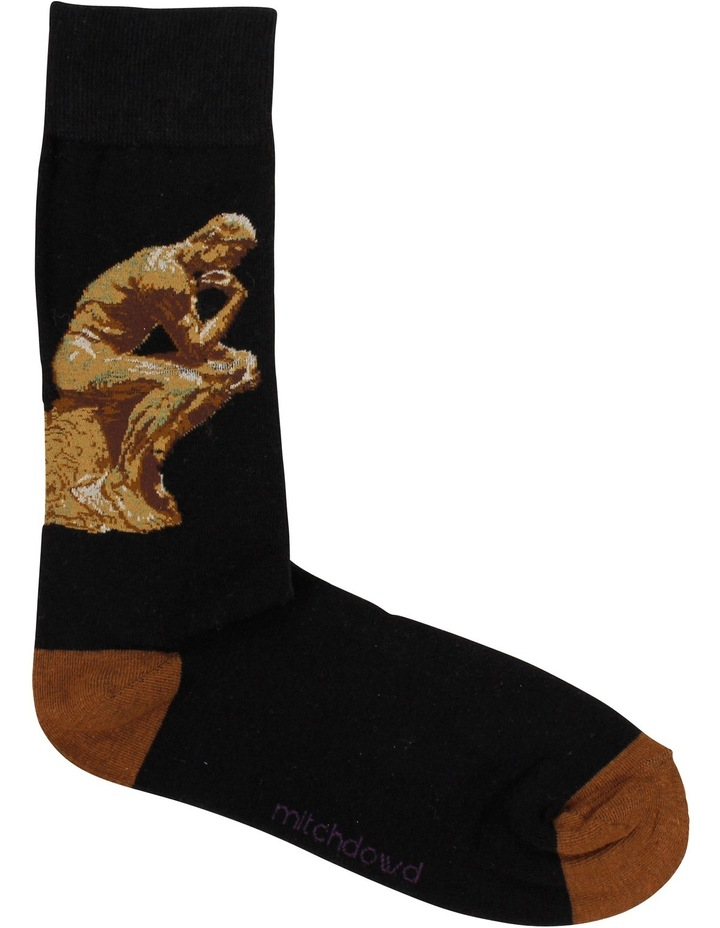 Rodin The Thinker Art Sock image 1