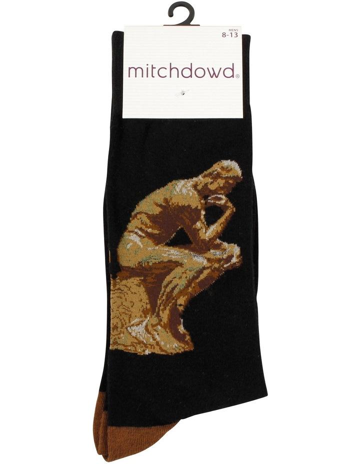 Rodin The Thinker Art Sock image 3