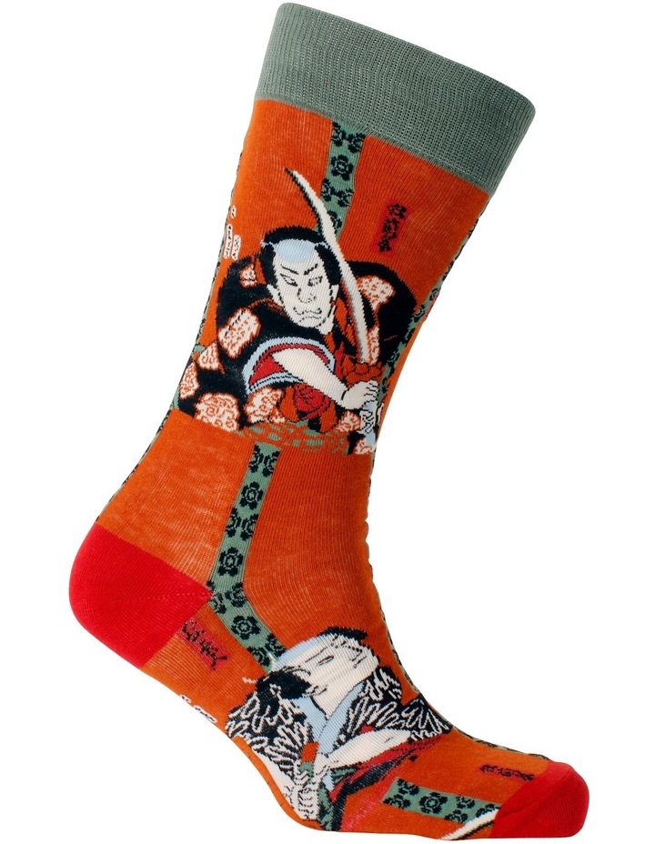Kunisada Two Samurai Art Sock image 2