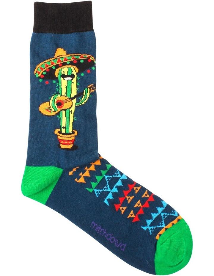 Singing Cactus Crew Sock image 1