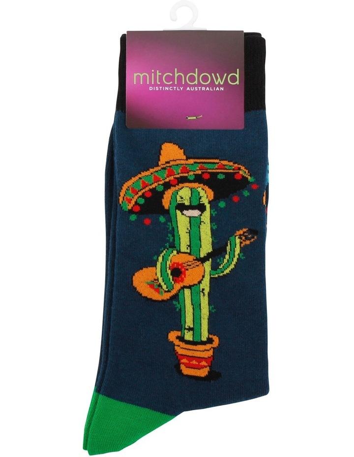 Singing Cactus Crew Sock image 2