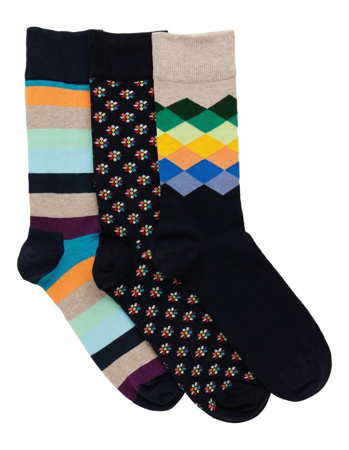 3 Pack Fashion Socks image 1