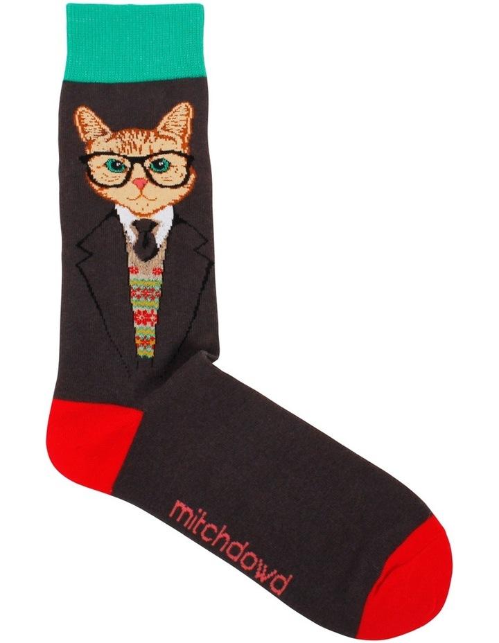 Dapper Cat Crew Sock image 1