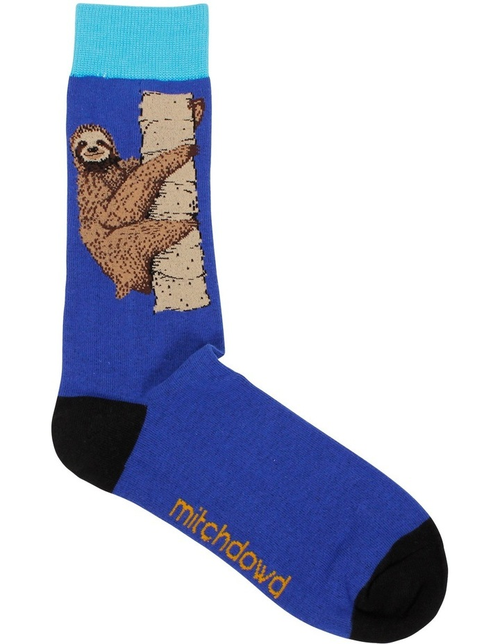 Smiley Sloth Crew Sock image 1