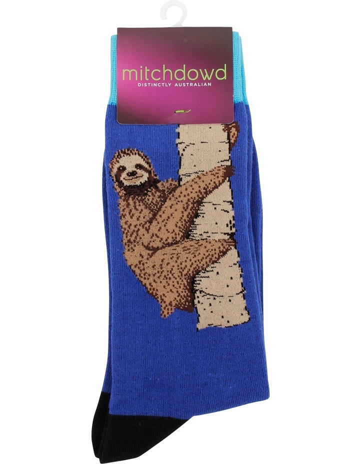 Smiley Sloth Crew Sock image 2