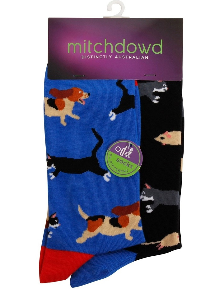 Cat Dog Mouse Odd Socks image 1