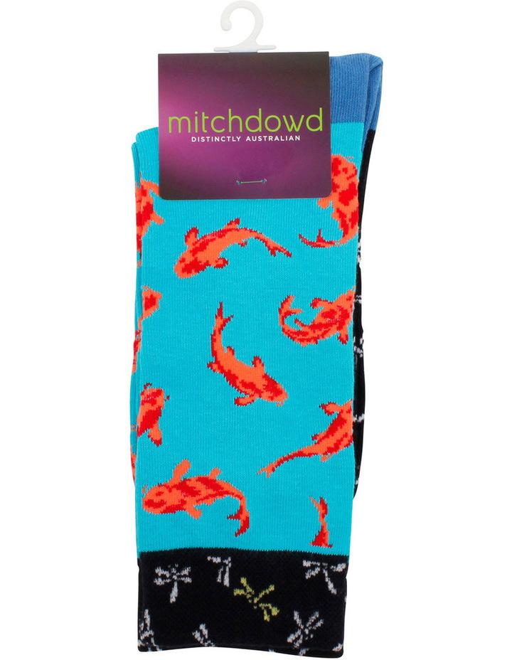 Contrast Goldfish Crew Sock image 2