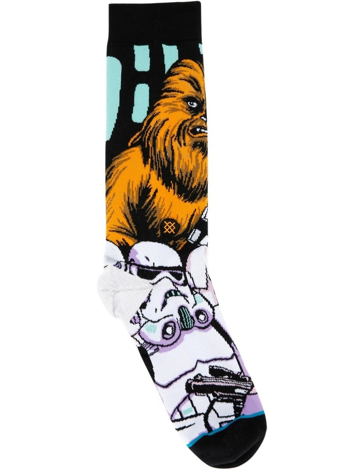 Star Wars Warped Chewbacca Crew Sock image 1